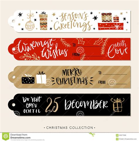 gift vector label elements webbyarts gift tags and labels with calligraphy stock