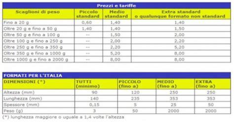 poste italiane tariffe lettere le spedizioni affari d oro