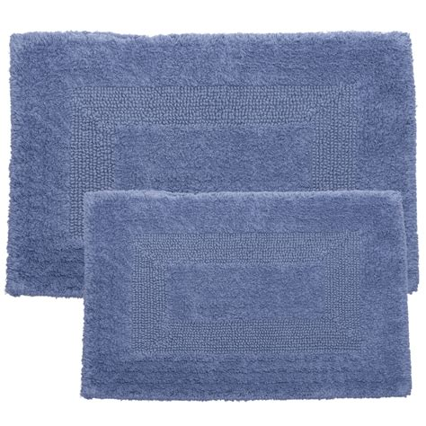 2 piece bathroom rug set lavish home 2 piece reversible bath rug set reviews