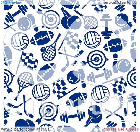 sport pattern background free clipart of a seamless background pattern of blue sports