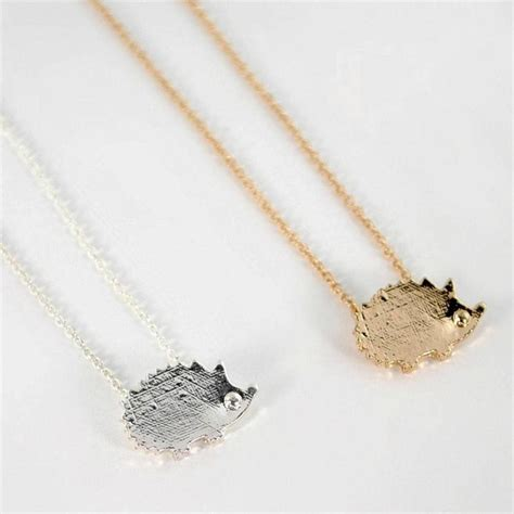 hedgehog necklace 0 75 quot small tiny pendant jewelry