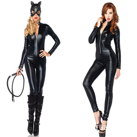 Shiny Fashion Tvs 25 High Challenge by 2017 Leather Jumpsuit Selling Cat Costume