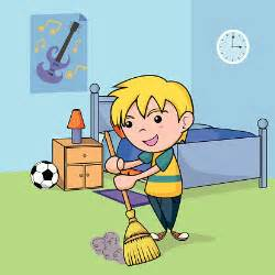 child cleaning the bedroom vector thinkstock