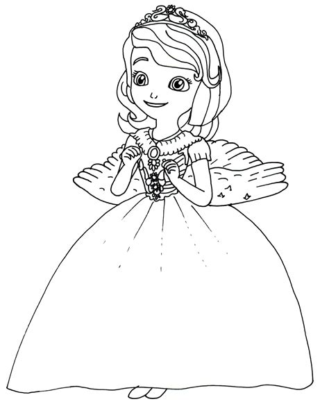 Printable Princess Sofia Coloring Pages 2 Coloringstar Sofia The Coloring Pages
