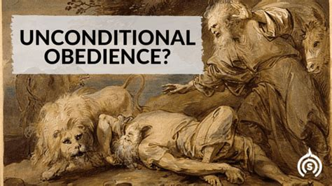 how does it take to obedience a unconditional obedience