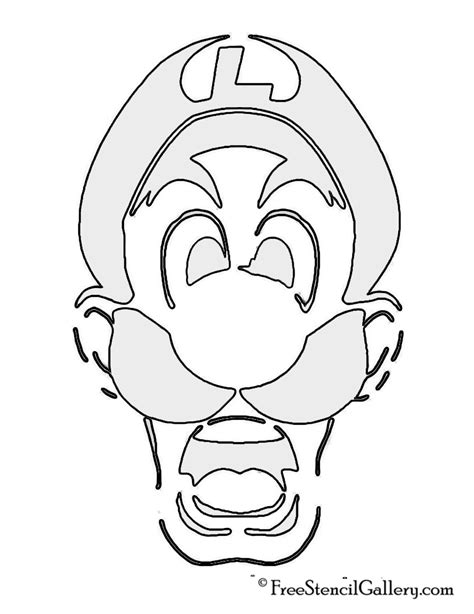 mario brothers pumpkin carving template luigi s mansion stencil free stencil gallery