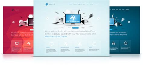 Glass Theme Yootheme Glass Website Templates