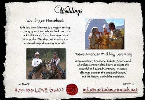 Weddings on Horseback Native American Wedding Ceremony Rockin Heart Ranch