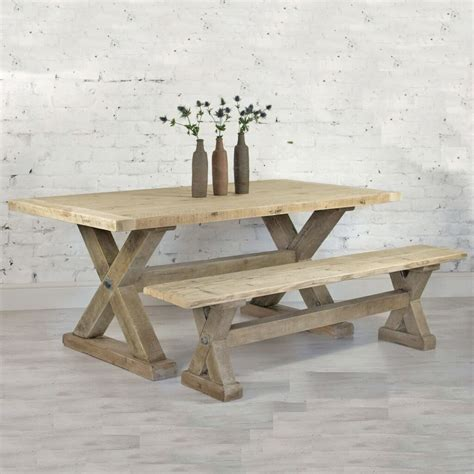 reclaimed wood plank trestle dining table home barn vintage