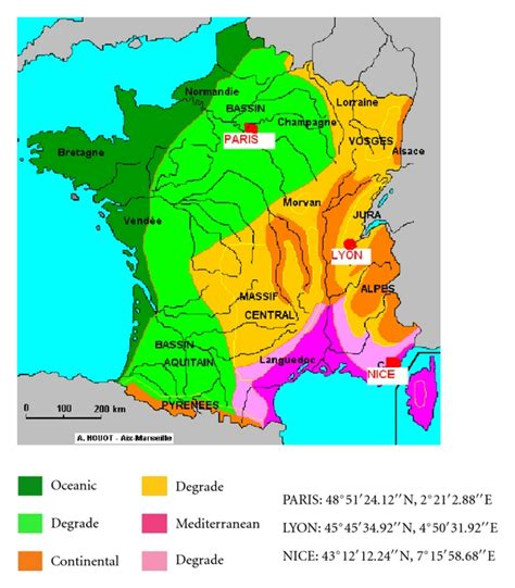 what is rainfall pattern in french climate zone map of france 187 travel