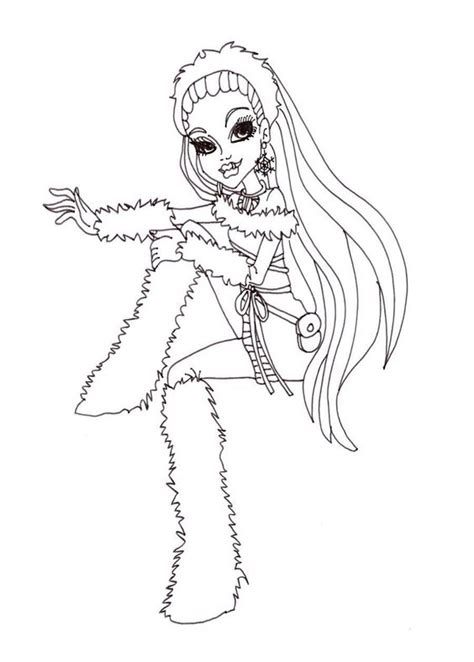monster high coloring pages baby abbey bominable abbey bominable monster high coloring page monster high