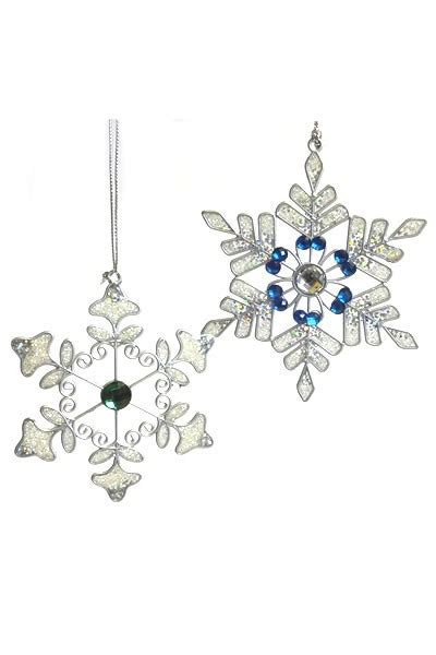 sparkly snowflakes small pair the wind chime shop limited