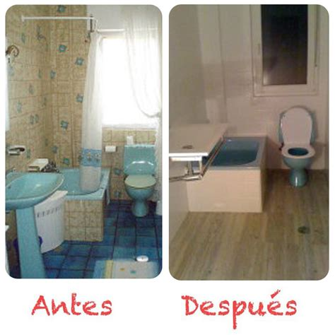 antes y despues bano con pintura suelo vinilico pintura azulejos antes despues