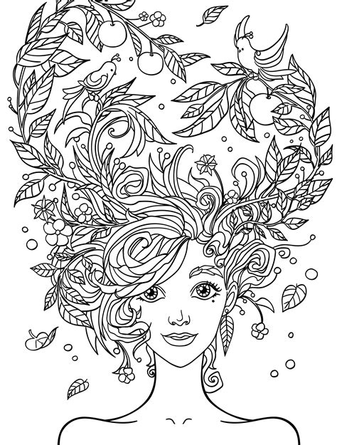 coloring templates for adults 10 hair coloring pages page 5 of 12 nerdy