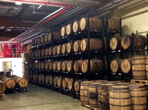 black bucks in a wine barrel room wine