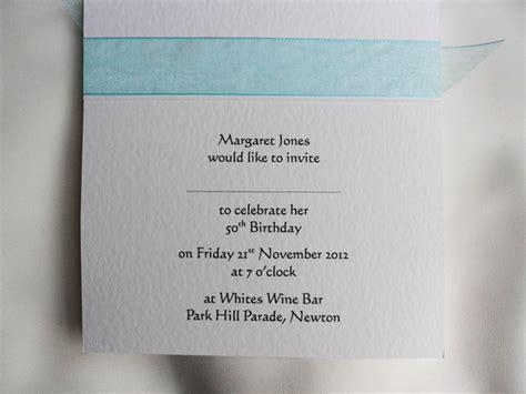 birthday invitation sle text top ribbon birthday invitation cards invites