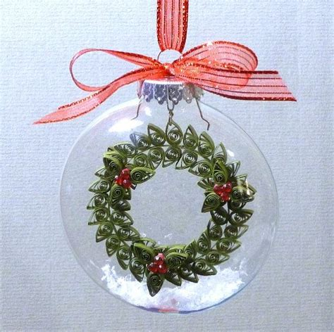 tutorial quilling christmas tutorial quilled wreath inside glass ornament pattern