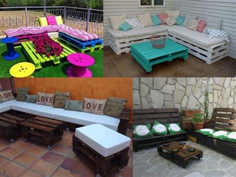 decorar mesas de jardin ideas para la decoraci 243 n de jardines con palets