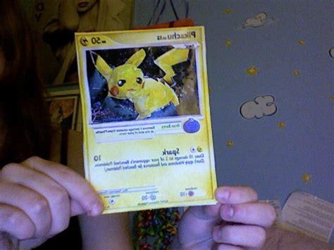 Card And Papercraft - pikachu card papercraft by froggychick12 on deviantart