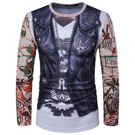 funny vest tattoo 3d printing t shirt men women 2017 brand