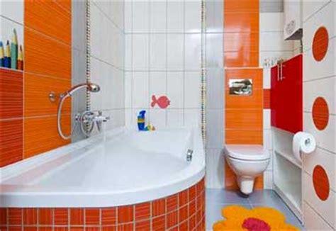 Stiker Kamar Mandi Toilet Bathroom Wall Sticker D tonique une salle de bain enfant d 233 co orange et blanche