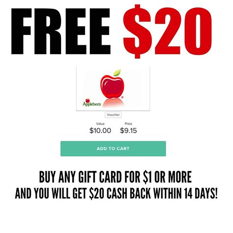 Topcashback Gift Cards - free 20 gift card today only