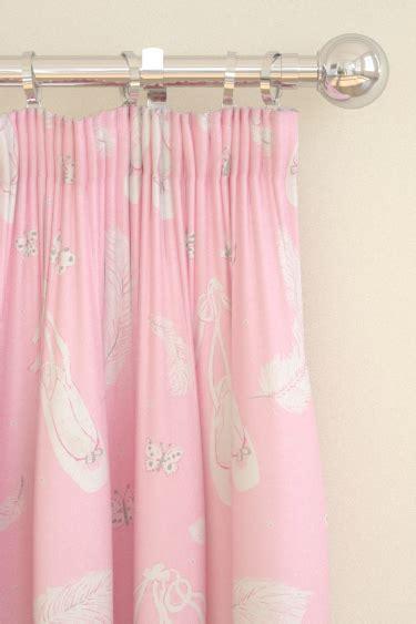 ballet curtains ballet shoes pink pencil pleat curtains by sanderson