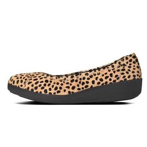 leopard shoes ff2 f pop ballerina shoes in cheetah leopard