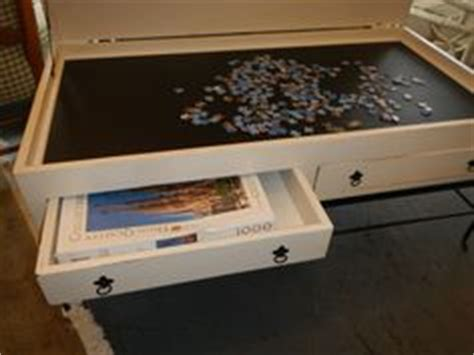 puzzle table with cover puzzle table closed up drawers slide into side to hold