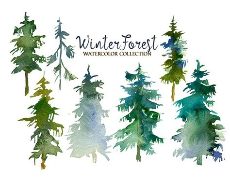 winter woods watercolor clip pine trees snow log cabin watercolor background pine trees watercolor clipart fir trees png winter forest landscape clip free