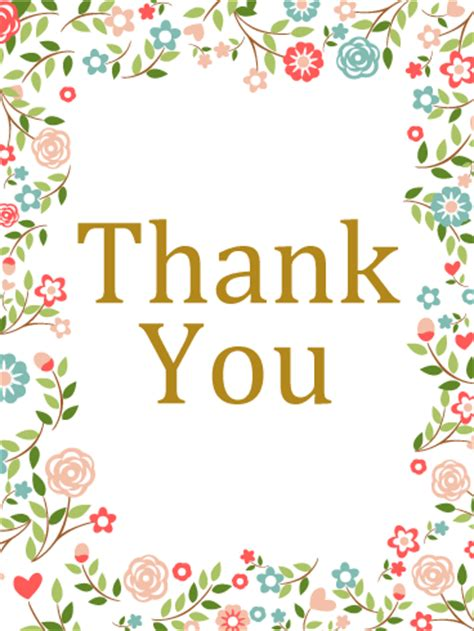 thank you card template flowers thank you flower card birthday greeting cards by davia