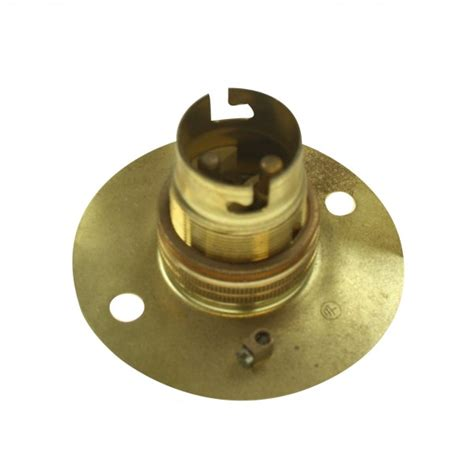 Light Holder by Brass Bayonet Cap Light Bulb Holder At Uk Electrical Supplies