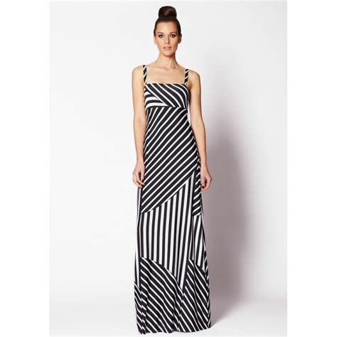 Dress Maxi Lucia Dress Black White black and white striped maxi dress dress fa