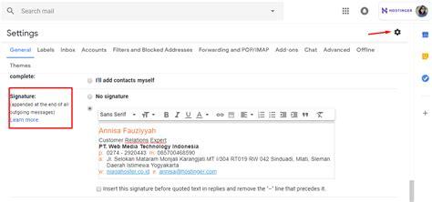 membuat signature  email  mudah cepat
