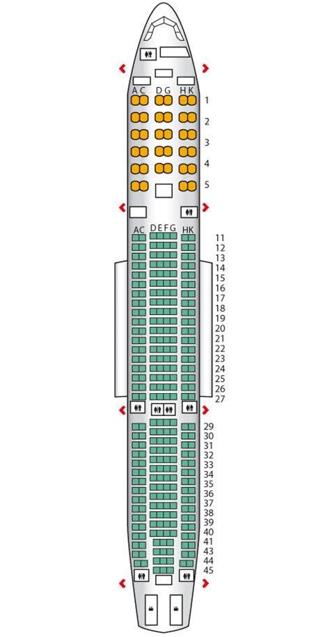 a330 300 seat map