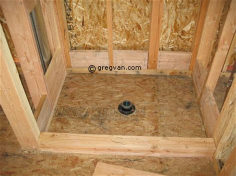 How To Frame A Shower by Framing Shower Pan