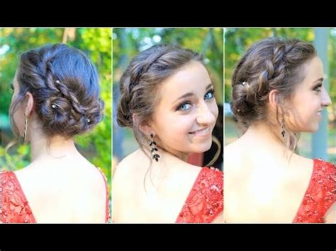 rope twisted updo | homecoming hairstyles youtube