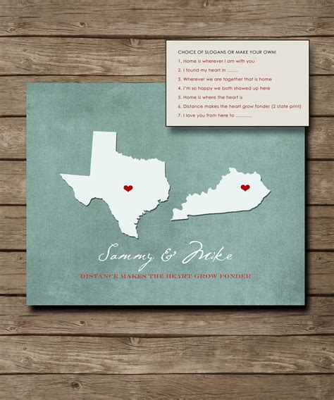 Personalized Handmade Gifts - personalized wedding gift customized distance
