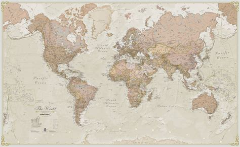 vintage world map image antique map of the world by maps international