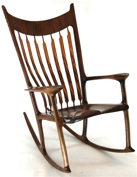 Handmade Wooden Chairs - buy custom rocking chair zebrawood walnut try
