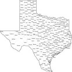 Tx Is In What County County Map With Names