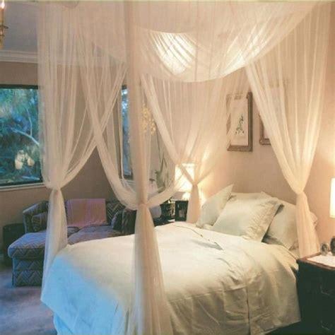 grande moustiquaire ciel de lit baldaquin blanc