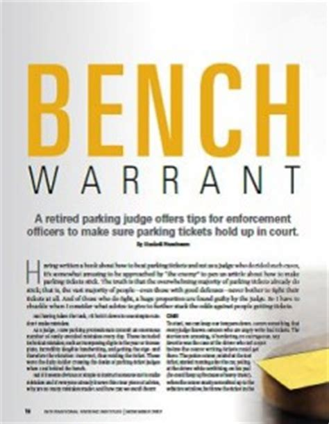 is a bench warrant the same as an arrest warrant bench warrant parking