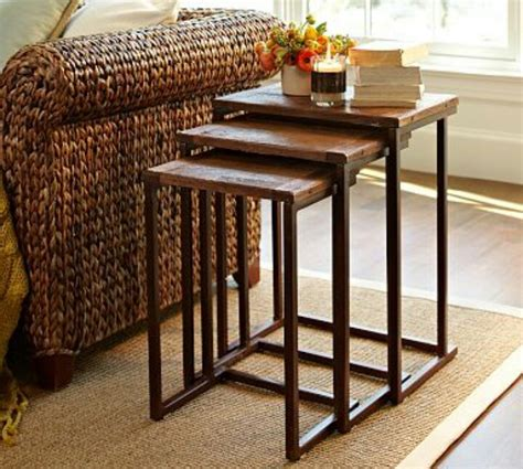 Nesting Tables Pottery Barn by Metal And Wood Nesting Tables Pottery Barn And