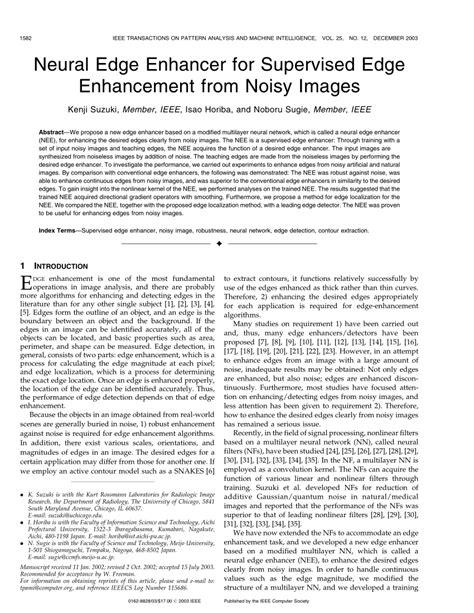 (PDF) Neural Edge Enhancer for Supervised Edge Enhancement