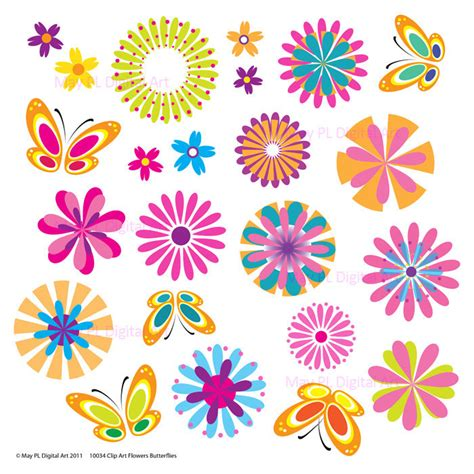 printable springtime flowers clip art spring flowers printable butterflies by