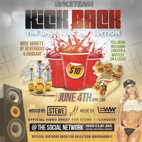 Red Cup Party Flyer Template Viceteam Kick Back Ig 3 Stewe The Official Site For Stewe Kicks Flyer Template 2