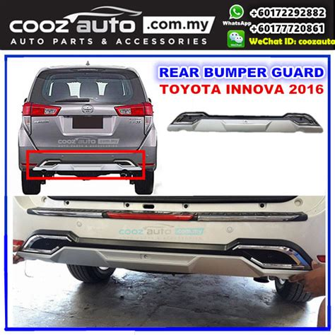 All New Innova Skid Plate Colour By Request toyota innova 2016 2017 front bumper protector skid plate guard cover