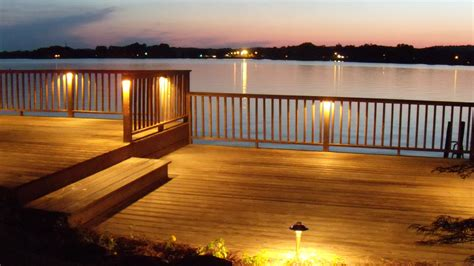 Outdoor Rail Lighting Deck Lighting At Logan Martin Lake Al Outdoor Lighting Perspectives Of Birmingham
