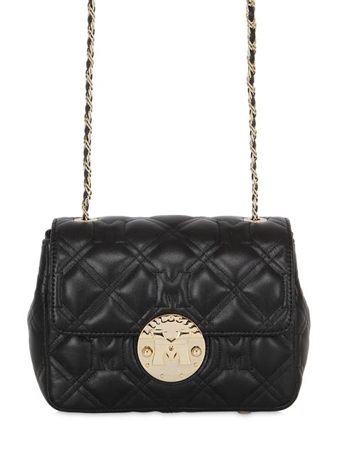 Quilted Leather Bag by Metrocity Quilted Leather Shoulder Bag In Black Save 31